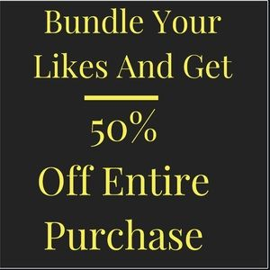 Bundle Your Likes And Get 50% Off